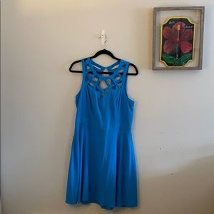Strappy fit & flare party dress, worn once